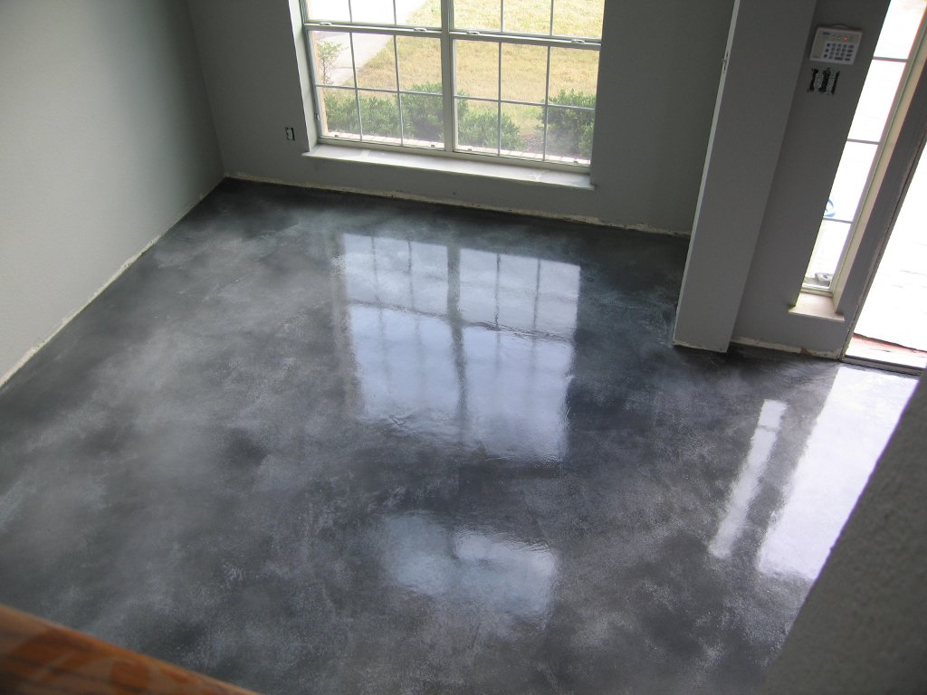 Stained Concrete Floors Cost How To