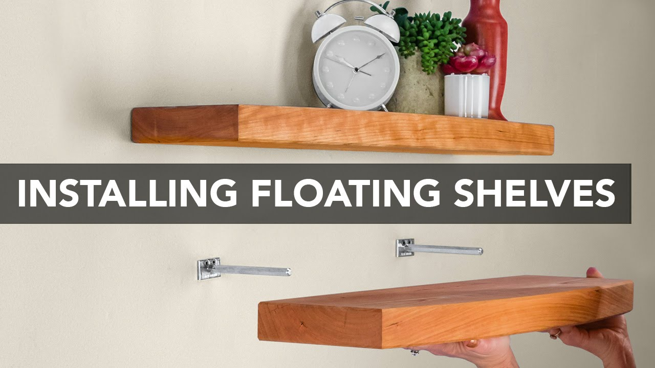 how to mount a floating shelf