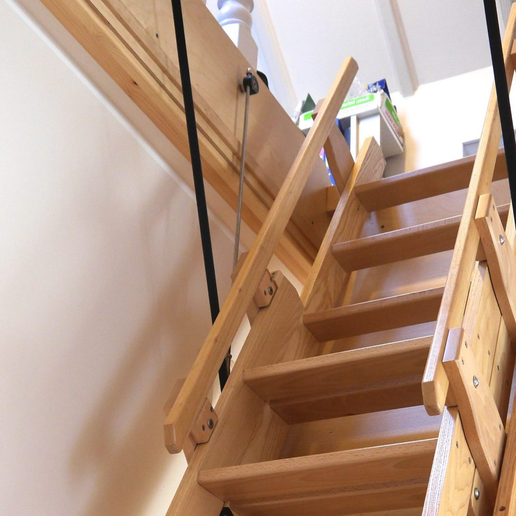 Attic Ladder Installation & Cost Guide in 2020 | EarlyExperts on squirrels in attic, fans in attic, wood in attic, air conditioning in attic, framing in attic, antenna in attic, genie in attic, bathrooms in attic, exhaust in attic, painting in attic, conduit in attic, windows in attic, electrical in attic, hvac in attic, cable splitter in attic, lights in attic, coil in attic, kitchen in attic, flooring in attic,