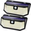 Aootek 182 solar powered motion sensor light