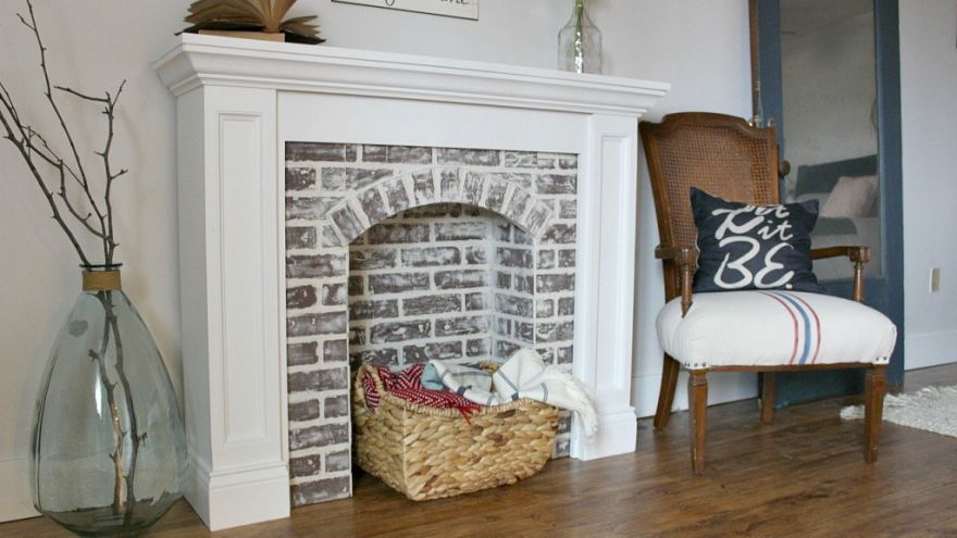 What You Need to Build a Faux Fireplace