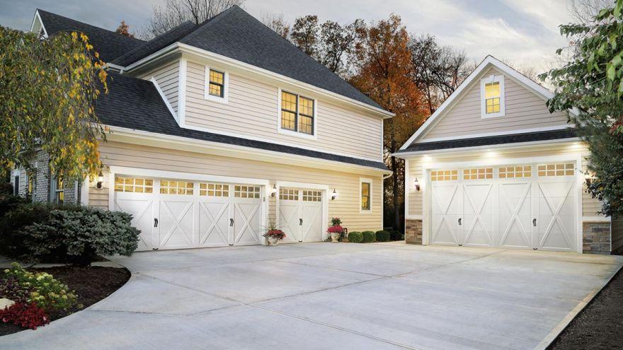 garage door front door