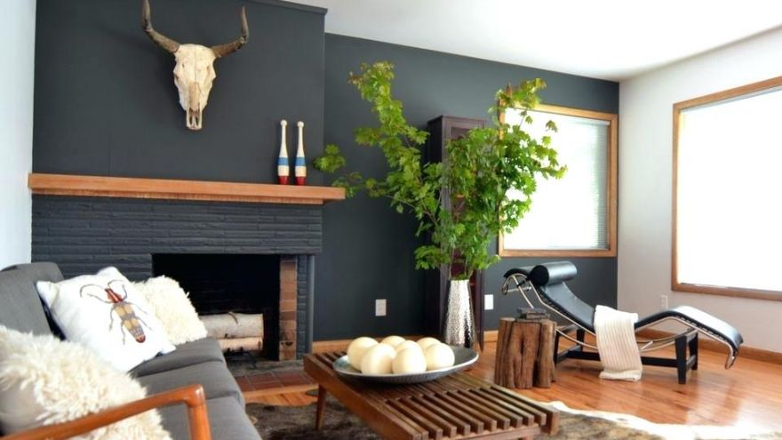 Painted Brick Fireplace Color Ideas Earlyexperts